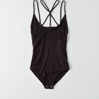 AEO Soft & Sexy Strappy Bodysuit, True Black