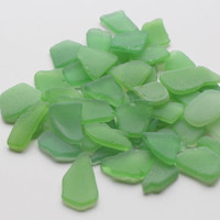 Pastel Green Sea Glass Bulk  Beach Glass Bulk Sea Glass Art Supplies SMALL