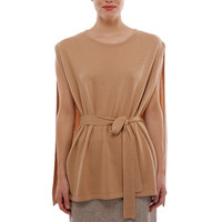 Cashmere Belted Cape Poncho