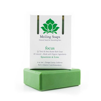 Meiling Skincare Organic Soap - Focus (Spearmint & Lime)
