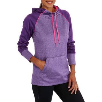 Danskin Now Women's Active Raglan Tech Fleece Hoodie - Walmart.com