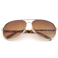 Designer Inspired Colorful Arm Premium Aviator Sunglasses