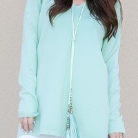 All The Ways Necklace in Mint | Monday Dress