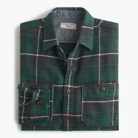 J.Crew Mens Wallace & Barnes Heavyweight Flannel In Marlow Plaid