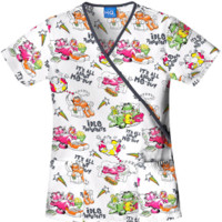 Garfield Idle Thoughts Scrub Top - Cherokee 4826