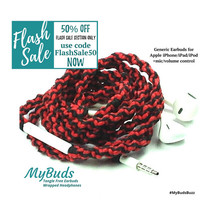 FLASH SALE! iPhone Earbuds - Headphones - Wrapped Headphones - iPhone Earphones - Tangle Free Earbuds Gifts for Teen