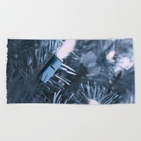 BLUE SPRUCE Beach Towel by Jessica Ivy