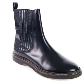 Brunello Cucinelli Womens Black Patent Leather Ankle Boots