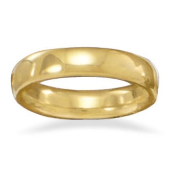 Bridal 4mm 14 Karat Gold Plated Band