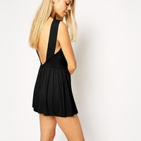 ASOS | ASOS Sweetheart Playsuit with Open Back at ASOS