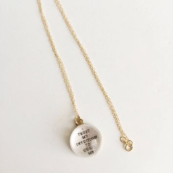 I Trust My Intuition to Guide Me, Affirmation P.O.M. Candy 14k Gold Filled Necklace