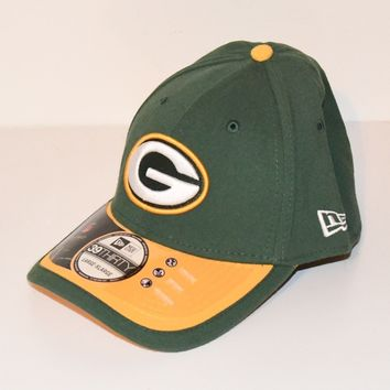 Green Bay Packers Hat Large-XL 7-5/8 to 8 NFL Cap Curved Brim New Era 3930