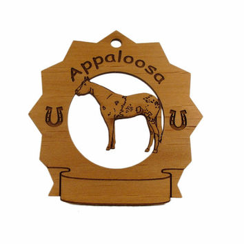 8034 Appaloosa Horse Personalized Ornament