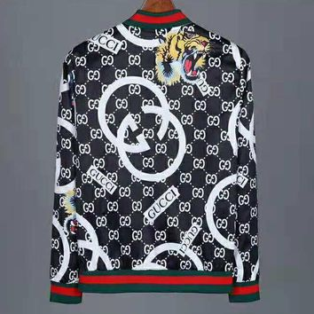 GUCCI 2018 winter new double G letter LOGO printing jacket