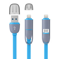 High Quality PVC Micro USB Cable 2 in 1 Sync Data Charger Cable For iPhone 5 5S 6 6S Plus IOS 9 Samsung HTC Sony etc Android
