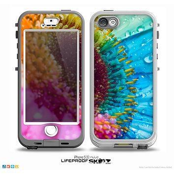 The Vibrant Colored Wet Flower Skin for the iPhone 5-5s NUUD LifeProof Case for the lifeproof skins