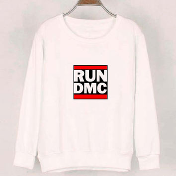 run dmc sweater White Sweatshirt Crewneck Men or Women for Unisex Size with variant colour