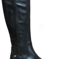 Denniza Tall  Riding Boots with Zipper: Black