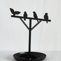 Bird Flaunt, Perch, Repeat Jewelry Stand by Kikkerland from ModCloth