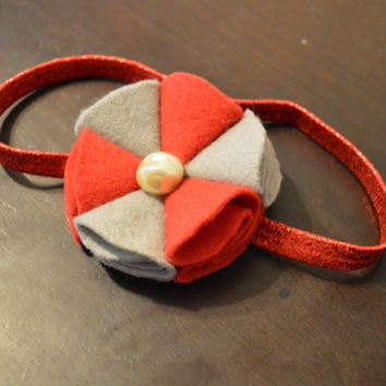 Thor headband marvel inspired hair accessory red and grey headband glittery red elastic headband young girls accessories nerdy accessory