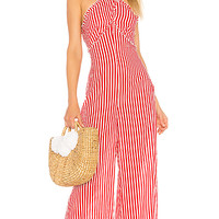 Tularosa Jackie Jumpsuit in Red Stripe | REVOLVE