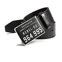 DSQUARED - Rebel Leather Buckle Belt - Saks Fifth Avenue Mobile