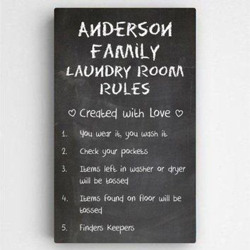 "14""x24"" Laundry Room Rules"