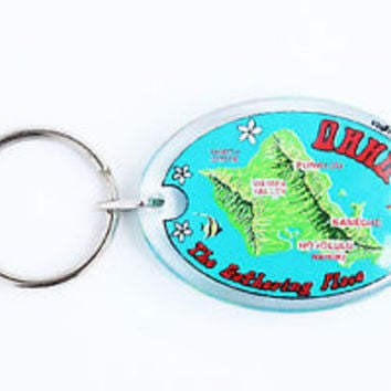 HOT VINTAGE HAWAII KEYCHAIN, COLLECTABLE ITEM, 60s - 70s, USED