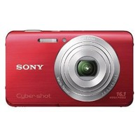 Sony Cyber-shot DSC-W650 16.1 MP Digital Camera with 5x Optical Zoom and 3.0-Inch LCD (Red) (2012 Model)