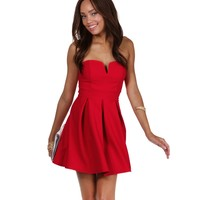 Red Sweet Talk Skater Dress