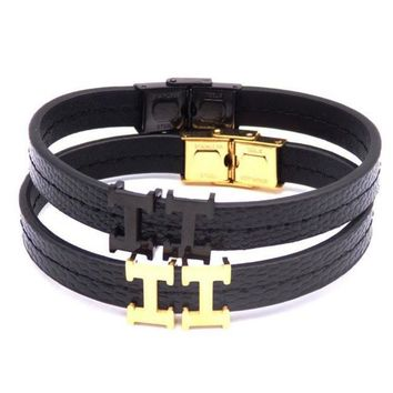 Hermes Fashion Casual Double G Logo Women Men Leather Hand Catenary