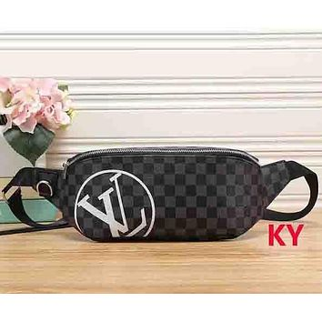 Perfect Louis Vuitton Women Leather Purse Waist Bag Single-Shoulder Bag Crossbody