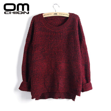 Sueter Mujer 2016 Autumn Winter Fashion Crystal Beading Female Loose Sweaters Round Neck Women Sweaters And Pullovers LMY17