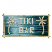 Bamboo54 Large Bamboo Tiki Bar Sign - 5613