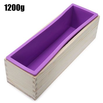 2016 Newest 1200g Rectangle Silicone Soap Loaf Mold Wooden Box with Silicone Liner DIY Making Loaf Swirl Soap Cooking Tools