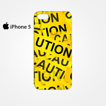 Caution Yellow Tape for Iphone 4/4S Iphone 5/5S/5C Iphone 6/6S/6S Plus/6 Plus 3D Phone case