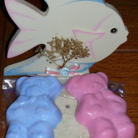 Kids Hand or Bath Soap - Birthday Party Favor, Boys Girls Children, Your Choice of Color & Scent in Teddy Bear, Bathtime, Duck or Paw Print