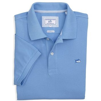 Short Sleeve Skipjack Polo in Ocean Channel by Southern Tide