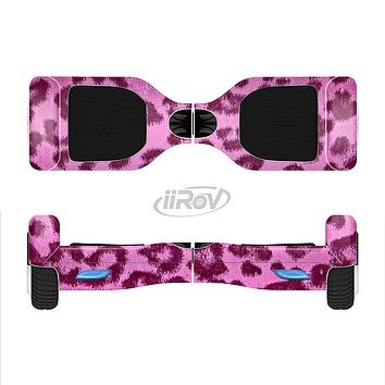 The Neon Pink Cheetah Animal Print Full-Body Skin Set for the Smart Drifting SuperCharged iiRov HoverBoard