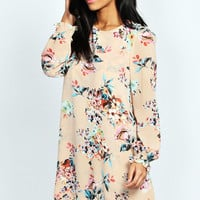 Nancy Double Layer Bouquet Shift Dress