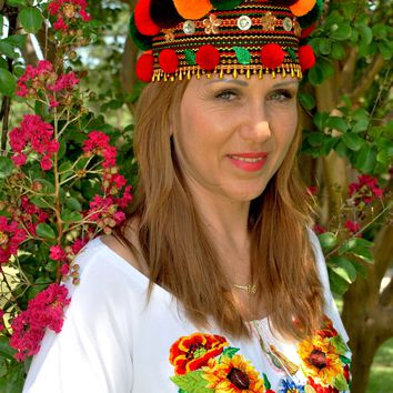 "Ukrainian headpiece ""Hutsul Crown"""