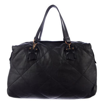 Lanvin Quilted Tote Bag