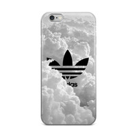 Adidas Logo Inside Of Beautiful Fluffy White Big Clouds iPhone 4 4s 5 5s 5C 6 6s 6 Plus 6s Plus 7 & 7 Plus Case