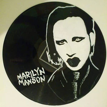 Marilyn Manson Vinyl Wall Clock