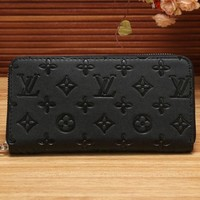 LV Trending Women Men Print Leather Zipper Wallet Purse I