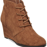 American Rag Baylie Lace-Up Wedge Booties, Only at Macy's - Booties - Shoes - Macy's