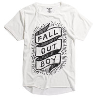 Fall Out Boy Banner Logo Raw Edge Tri-Blend T-Shirt