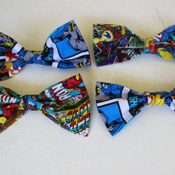 Comic character hair bows by Silvitaa on Etsy