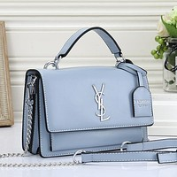 Yves Saint laurent YSL Women Fashion Leather Tote Crossbody Shoulder Bag Satchel