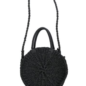 Sunburst Straw Bag